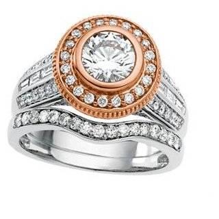 14 Karat White Rose Gold Semi mount Diamond Engagement Ring Jewelry