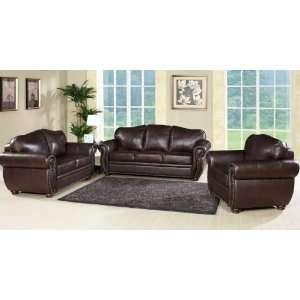 Berkely 3 Pc Leather Sofa/Loveseat/Armchair Set by Abbyson