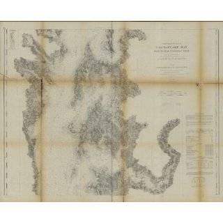 1862 Civil War map Nautical charts Chesapeake Bay