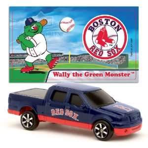MLB 1:87 Scale Ford F 150 with Team Mascot Sticker   Red Sox (2 Packs