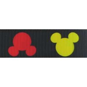 3yd 1 Disney Mickey Mouse Head  Black Arts, Crafts
