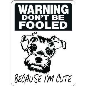 MINIATURE SCHNAUZER ALUMINUM GUARD DOG SIGN