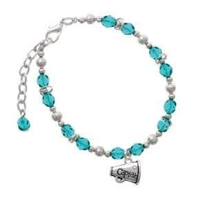 with AB Swarovski Crystal Teal Czech Glass Beaded Charm Br Jewelry