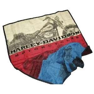 Biederlack Harley Davidson Motorcycles Blanket Throw 60 x