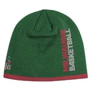 MILWAUKEE BUCKS NBA CUFFLESS TEAM KNIT BEANIE HAT/CAP BY