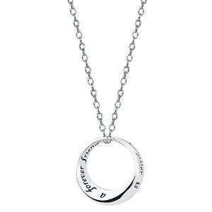 Footnotes Inspiration Sister Pendant Necklace Jewelry