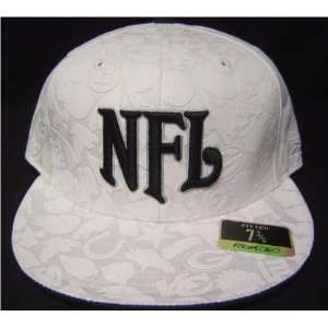 White on white camouflage NFL Logos Fitted Flat bill Cap / Hat