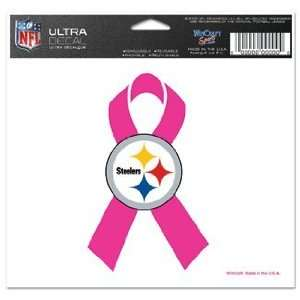 NFL Pittsburgh Steelers Window Cling   Pink Ribbon  Sports