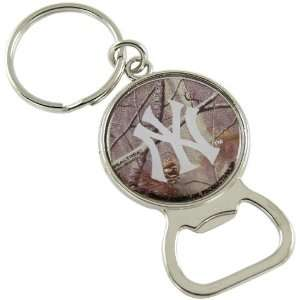 MLB New York Yankees Real Tree Camo Bottle Opener Keychain