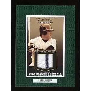 com Hideki Matsui Game Worn Jersey Card w/ Stripe 2005 Upper Deck Old