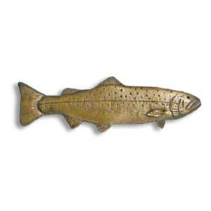 German Brown Trout Cabinet Pull (Right Face): Home