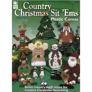 Country Christmas Sit  Ems (Plastic Canvas) Joan Green Books