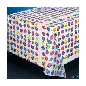 Lightweight EASTER Tablecloth EGG 54 x 72 Plastic PARTY