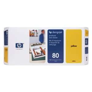 HEWLETT PACKARD 80 Yellow Printhead and Cleaner For HP