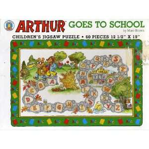 Arthur Goes to School   60 Piece Jigsaw Puzzle Toys & Games