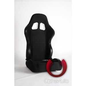 CPA1007 Black Cloth Universal Racing Seats Automotive