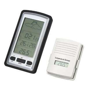 Fuloon Wireless LCD Weather Station Temperature Sensor 100M Clock IN