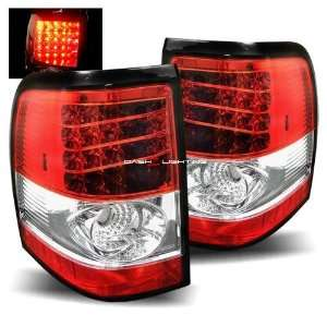 02 05 Ford Explorer LED Tail Lights   Red Clear
