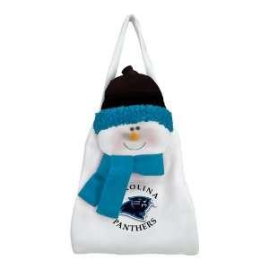 Pack of 2 NFL Carolina Panthers Plush Snowman Christmas