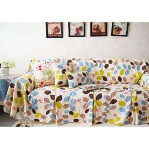 Throw Cotton Couch/loveseat Cover SC 19, Two Seats Sofa Home