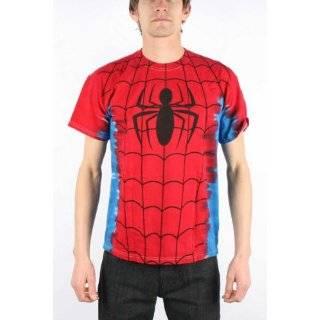Marvel Comics Spider man Suit Costume Tie Dye Big Print Subway T shirt