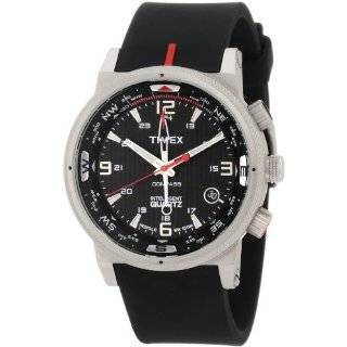 Compass Analog Stainless Steel Case Brown Strap Watch Watches