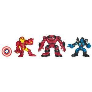 Marvel Super Hero Squad Iron Man 2 Armor Vault 3 Pack with Iron