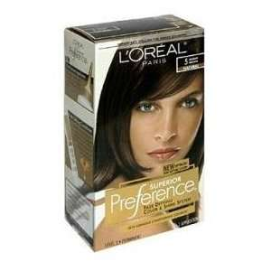Loreal Superior Preference #5 (Natural) Medium Brown KIT