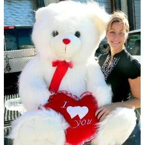 Teddy Bear Holding I Love You Heart   Perfect Valentines Day or Any