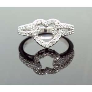 Sterling Silver Heart Fashion Ring R 8641 Jewelry