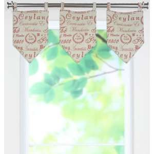 Crestmont Red Collection Valances   tab top valance