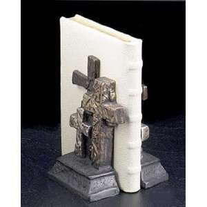 Cross Antique Metal Bookend   Set of 2 pcs: Office