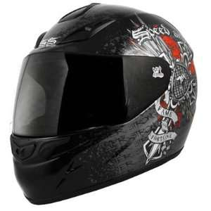 Speed and Strength Fame and Fortune Motorcycle Helmet Black (X Large