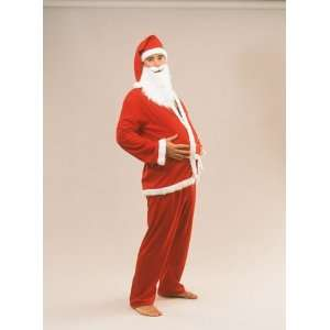 Father Christmas Santa Suit Costume Outfit 5 Piece [Toy] Toys & Games