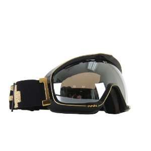 Snowboard Goggles Black Gold/Silver Mirror Lens Womens: Sports