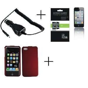 Protector + Car Charger APPLE IPHONE 4 IPHONE 4G