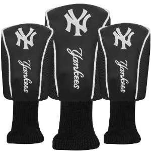 New York Yankees Black Three Pack Golf Club Headcovers