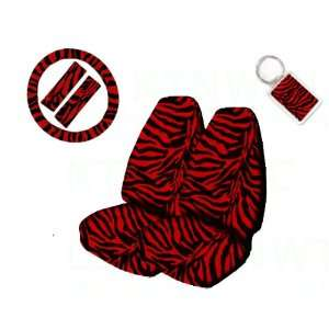 Universal Fit Animal Print High Back Bucket Seat Covers, Wheel Cover