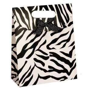 Trendy Black & White Zebra Gift Bag  4pack Everything