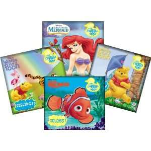 Disney Bath Time Bubble Books Featuring the Little Mermaid, Winnie the