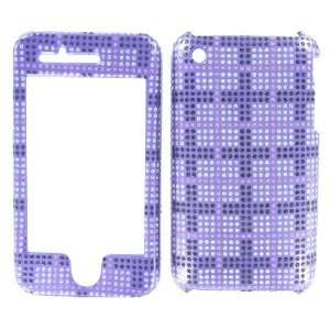 PURPLE, BLACK & SILVER DIAMOND GLITTER SQUARES PRINT snap
