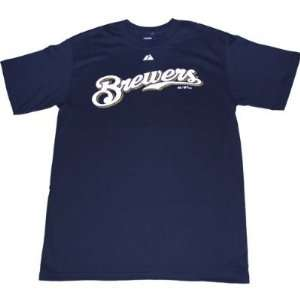 Milwaukee Brewers Logo Mens T Shirt
