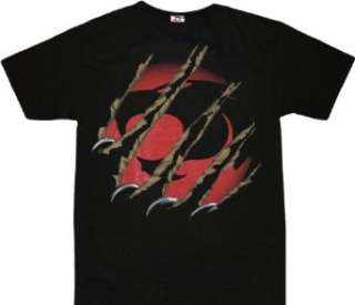 Thundercats Claws Ripping Through Logo Black T shirt Tee Clothing