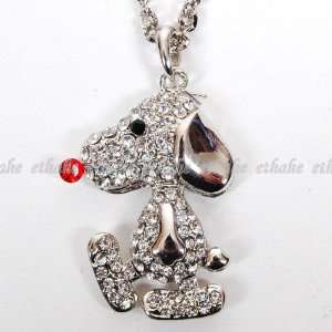 Peanuts Gang Snoopy Necklace Neck Chain Silver Toys