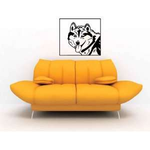 Siberian Husky Snow Dog Vinyl Wall Decal Sticker Graphic