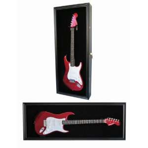 Fender / Electric Guitar Display Case Cabinet Shadow Box with Hanger