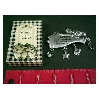 Guardian Angel Visor Clip, Silver Plate: Never Drive Faster Than Your