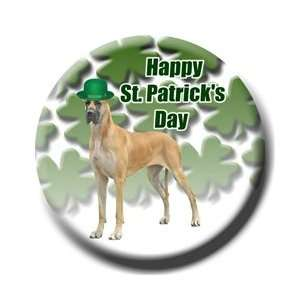 Great Dane St Patricks Day Pin Badge Button No 3