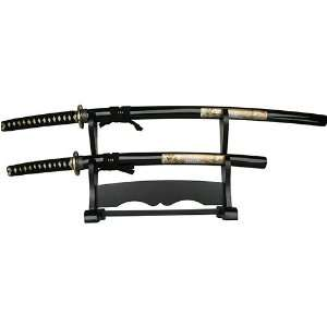 Katana Wakizashi Sword Set White Tiger  Sports & Outdoors