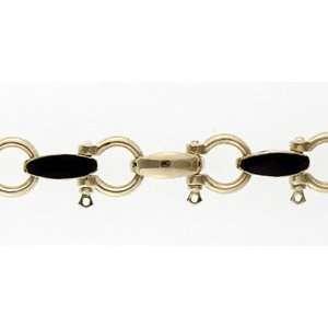 Reyes del Mar 14K Gold XL Shackle Inlay Bracelet  Sports